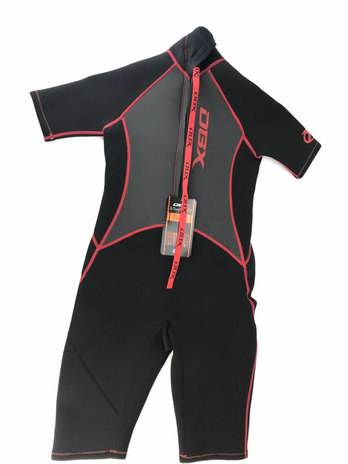 DBX Junior 3 2MM Shorty Super Stretch Neoprene Wetsuit Size XL