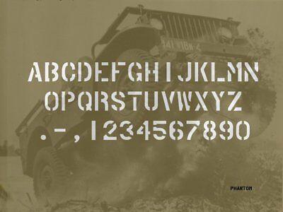 ALPHABET 6 US 1 POUCE 25.4mm JEEP WILLYS FORD GPW DODGE GMC GI WW2 D-DAY