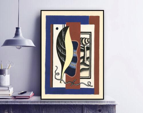 """Fernand Leger /""""La Feuille Jaune Art Wall Decor 1928/"""" Artwork print"""