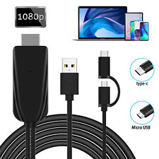 USB Type-C To HDMI 1080P Adapter Audio Video Cable for ASUS ZenPad S 8.0 Z580CA