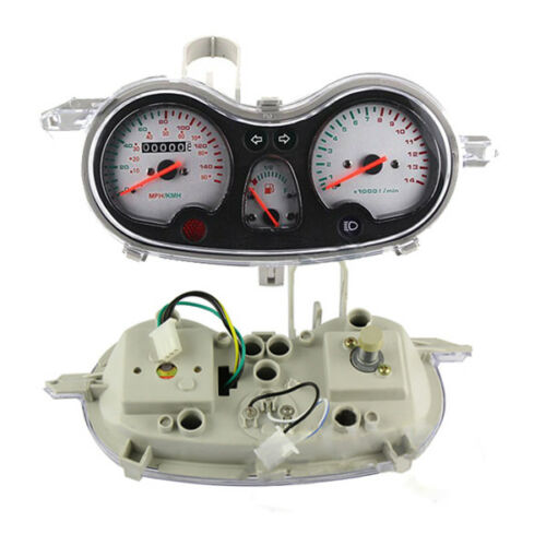 Motorcycle GY6 125//150cc Scooter Speedometer Assembly Instrument Gauge Kit Novel
