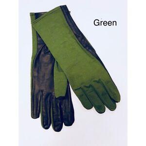 Cold Weather Nomex Tactical Flyer Flight  Gloves-Fleece Liner*Black,Green /& Tan*