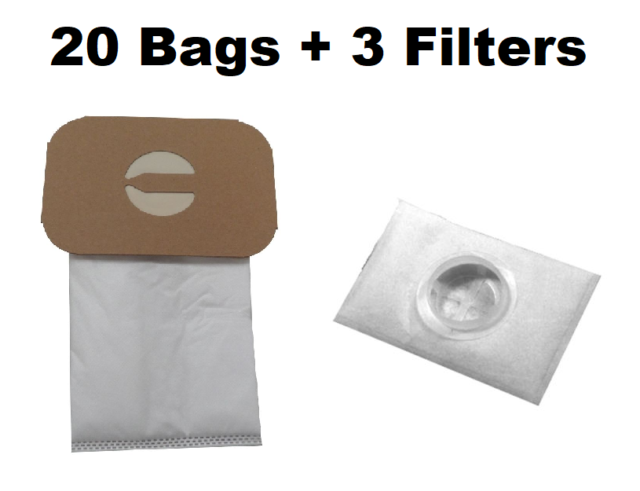 20 Bags For Electrolux Canister Vacuum Style C 3 After Filters