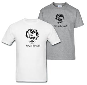5389f5006ee9 Why So Serious   Men`s Inspired T Shirt The Joker Batman DC Comics ...