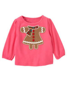 NWT-GYMBOREE-GIRLS-034-WINTER-CHEER-034-COLLECTION-GINGERBREAD-TOP-SIZE-12-18-18-24M