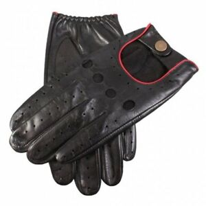 Dents Delta Leather Classic Driving Gloves BLACK/BERRY