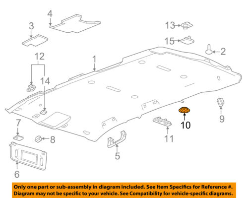 GM OEM Interior-Roof-Air Outlet Vent 22910950