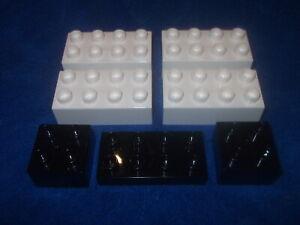 4785 GRAU SCHWARZ 4988 LEGO DUPLO RITTERBURG 2 X 4er NOPPEN STEIN 4777