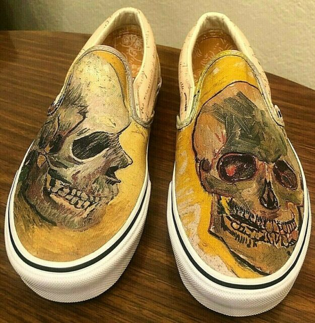 Vans X Vincent Van Gogh Museum Skull Slip On Sneaker Mens 6 5 Womens 8 For Sale Online Ebay