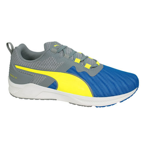 edce48acf916 Puma Ignite XT v2 Mens Trainers Running Shoes Sports Grey Yellow ...