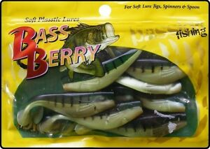 10-x-2-5-Inch-Fire-Tiger-Soft-Shad-Lures-Jig-Jigging-Fishing-Bait
