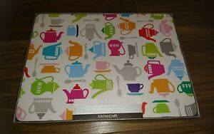 Kitchen-Craft-039-Teapots-039-Cork-Back-Laminated-Placemats-Set