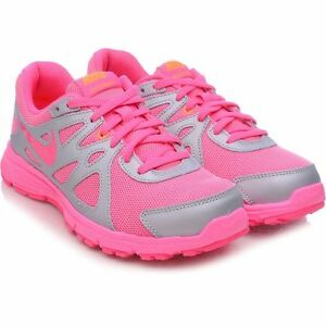 da3ce33609 GIRLS KIDS YOUTH NIKE REVOLUTION 2 GS PINK/SILVER SHOES SNEAKER NEW ...