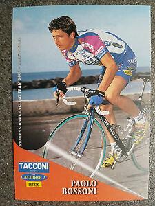AK o.AG Paolo Bossoni Team Tacconi Sport - Vini Caldirola 2001 Rarität - Dülmen, Deutschland - AK o.AG Paolo Bossoni Team Tacconi Sport - Vini Caldirola 2001 Rarität - Dülmen, Deutschland