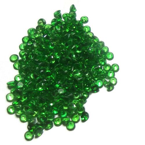 1 to 3 MM Diamond Cut Natural Pleasant Green Tsavorite Garnet Gems Wholesale Lot