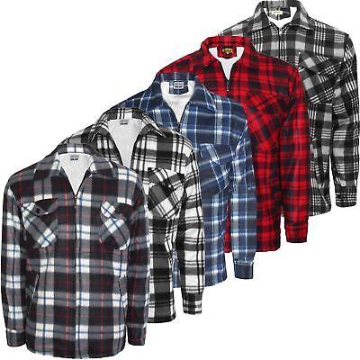 Beliebte Marke New Mens Padded Hooded Sherpa Fur Lined Lumberjack Work Shirt Jacket Size S-3xl