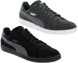 89932a09ac La imagen se está cargando Puma-Suede-Classic-Smash-Jersey-Cuero-Zapatillas- Hombre-