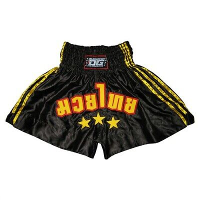 S/&S BLACK RED SHORTS TRUNKS FOR MUAY THAI SPORTS TRAINING