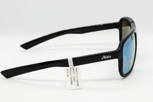 Grey lens Choose Blue Mirror HOBIE PACIFICA POLARIZED SUNGLASSES Black frame
