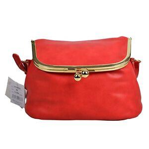 Legato Largo Official Red Japan Fashion Shoulder Satchel Cross-Body Bag