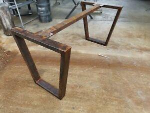 Gambe Per Tavoli Design.Dettagli Su Base Gambe Tavolo Ferro Industrial Design Effetto Ruggine