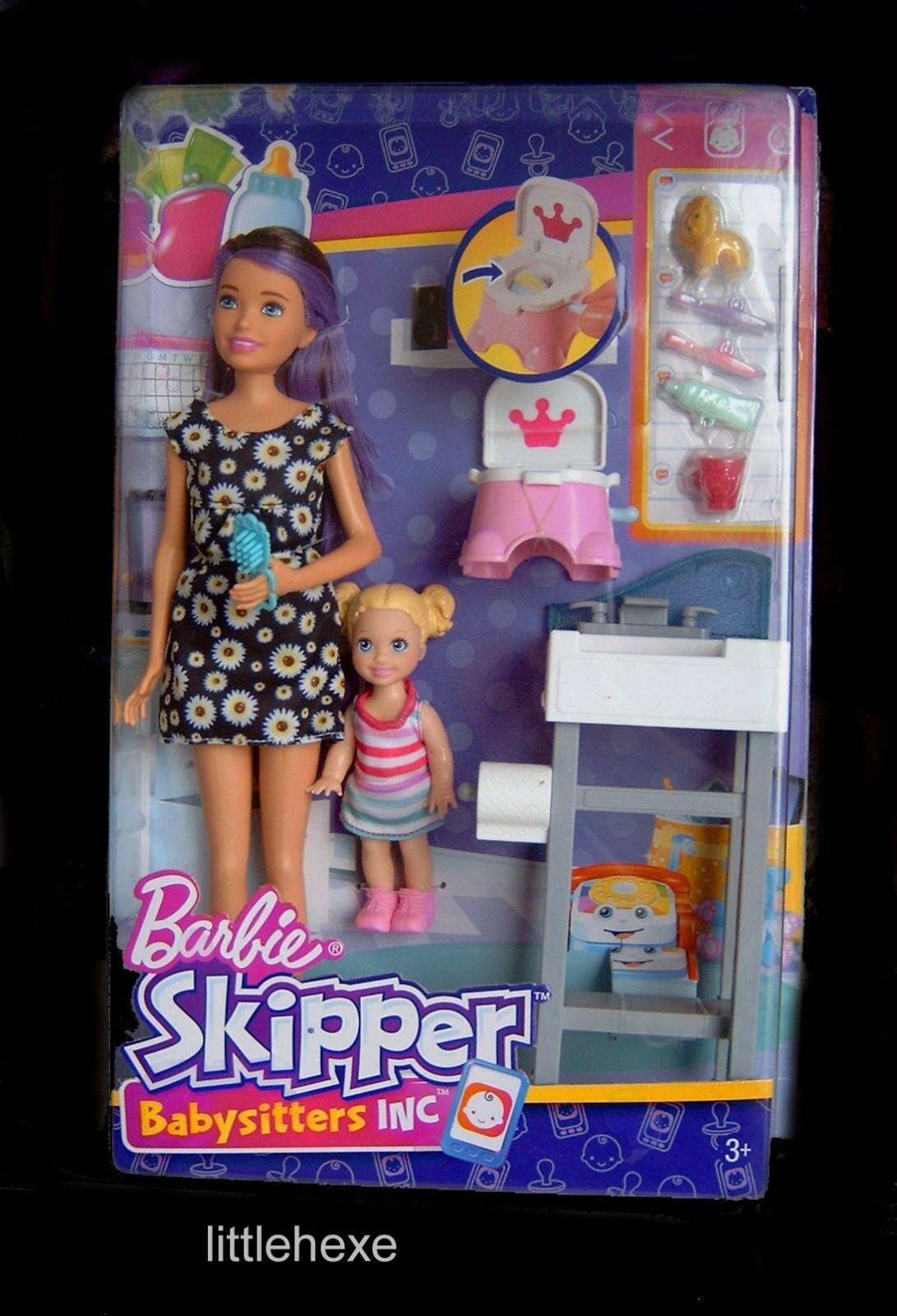 Barbie Skipper Babysitter Inc Spielset Töpfchen- Training FJB01 mega-rar NEU OVP    Hochwertige Materialien