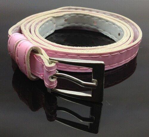 Moda Lindo Cross Buckle Mujeres Niña Color Caramelo cinturón delgado delgado imitación de cuero