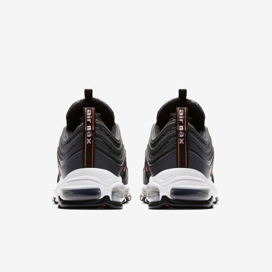 Nike Air Max 97 Black Anthracite White White White orange Size 7.5 Eur 42 AQ7331-002 f64810