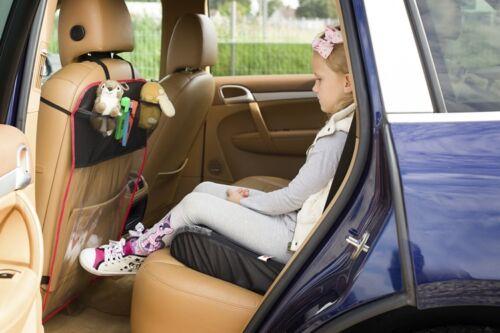 ajuste Universal Rojo Asiento de coche Protector De Espalda Con 3 Bolsillos