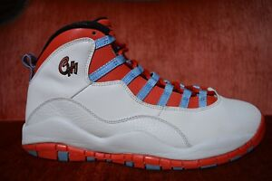 d7c605f0369e NIKE MEN S AIR JORDAN RETRO 10 CHICAGO FLAG WHITE CRIMSON 310805-114 ...