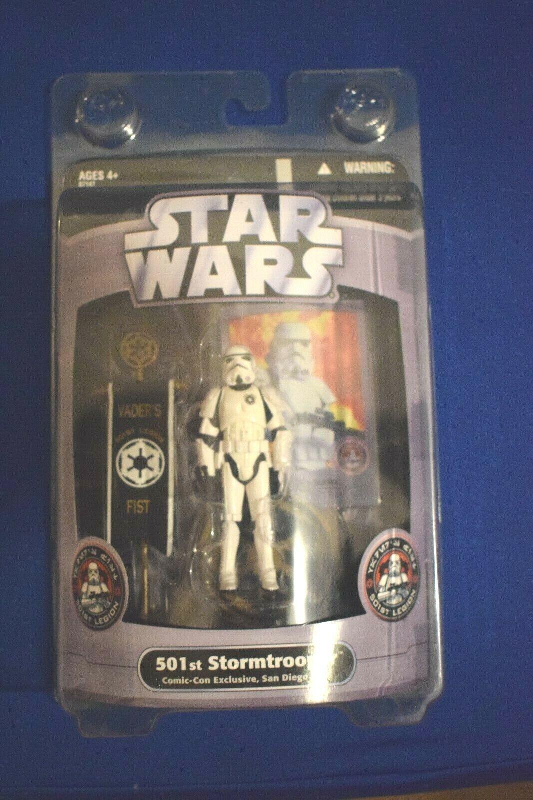 Hasbro Estrella Guerras 501st LEGIONE Stormtrooper Stormtrooper Stormtrooper non aperto azione cifra SDCC 2006 e3b72b