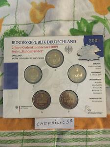 bu 5 x 2 euro commemorative allemagne 2009 5 atelier a d f g j