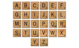 Hölzerne Scrabble Individuelle Fliesen Buchstaben Zahlen Für ...