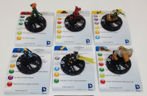 Heroclix Teen Titans set COMPLETE 6-figure Ravagers Fast Forces lot w/cards!