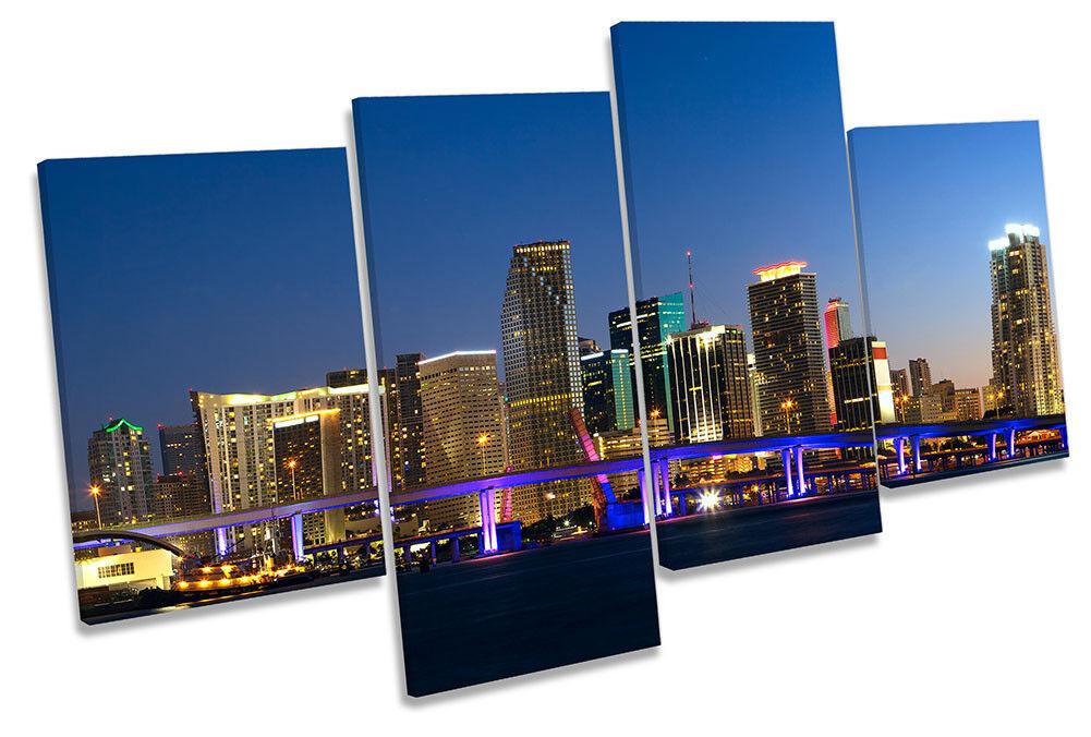 Miami Florida Skyline Picture MULTI CANVAS wand kunst drucken