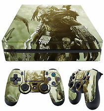 PS4 Slim Skin PREDATOR YAUTJA ALIEN HUNTER Stickers Graphics + 2 X Pad skins New