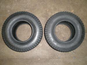 Set Of 2 16x6 50x8 16 6 50 8 Turf Tires 4 Ply Lawn Mower