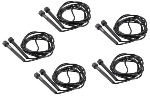 Set - Fünf schwarze TRENAS Speed Ropes im Set - 3 m - Speedropes - Springseile