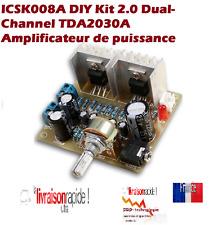 DIY Kit 2.0 double canal TDA2030A Module STÉRÉO puissance Amplificateur  AUDIO