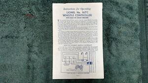 LIONEL-167-167C-WHISTLE-CONTROLLER-BUILT-IN-CIRCUIT-BREAK-INSTRUCTION-PHOTOCOPY