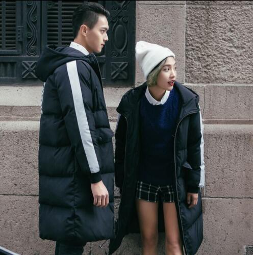 Long Hooded Warm Womens Mens Outwear Parka Down Jacket Thicken Coats size 3Color