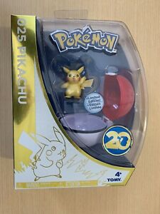 Pokemon-20th-Anniversaire-Pikachu-Limited-Edition-Figure-Tomy-NEUF