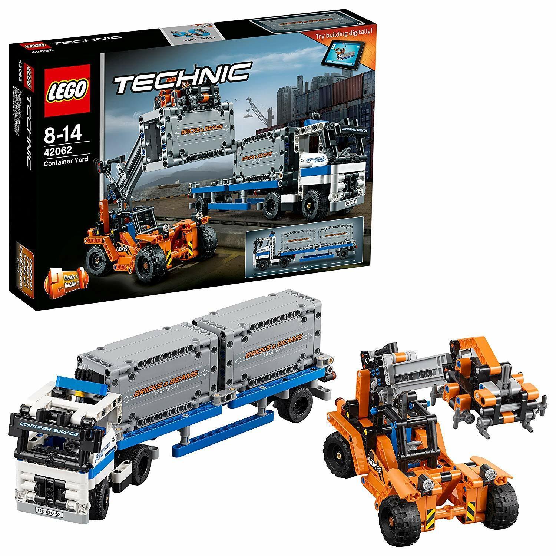 Lego 42062 Technic 1  en 2-Modèle Conteneur Yard et chariot Cavalier Building Set  marque