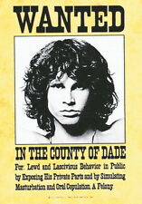 "DOORS   FLAGGE / FAHNE    ""WANTED"" POSTER FLAG"