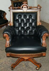 Victorian-American-Inlaid-Swivel-Chair-by-Hunzinger-1800-1899-7478