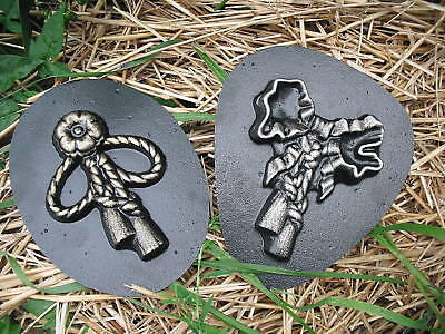 Love paw print plastic mold plaster mold rapid set cement all mould