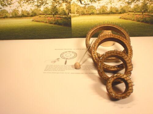 4er set de punto anillo 10-16-24-30 ganchos cuerda vara strickliesel tejer nuevo