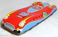 Splendido vecchio VINTAGE TIN TOY FRICTION FERRARI RACING RACE SPORTS CAR C anni'50