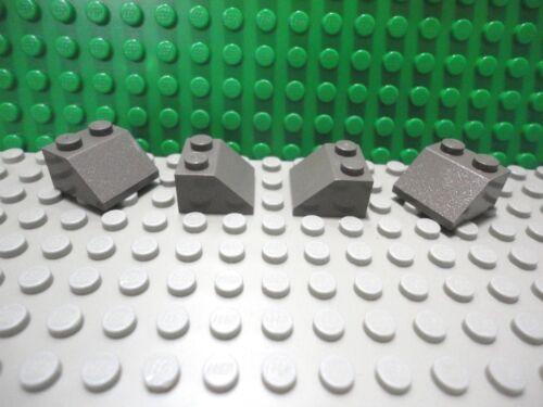 Lego 4 Classic Dark Gray 2x2 Slopes brick block