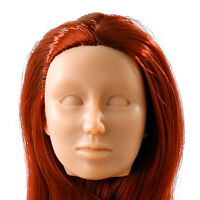 Fembasix Cg Cy Girl Lia Female Figure Head Red Tan Skin No-deco 1:6 Scale